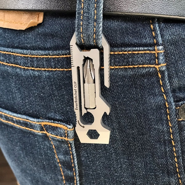 EverRatchet Clip Ratcheting Keychain Multitool - Gear Infusion