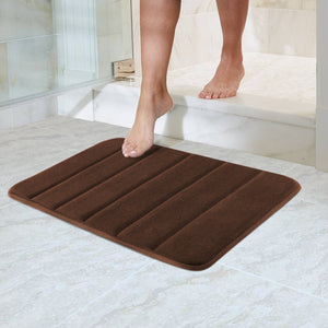 "Norcho 23"" x 17"" Bath Soft Mat Anti-slip Memory Foam Bathroom Rug Brown"
