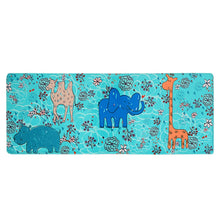 Norcho Christmas Santa Decoration Non-slip Shaggy Soft Kid Bedroom Livingroom Mat Comfortable Animal Zoo Elephant Pattern Kitchen Rug 46.45x17.12x0.47inch
