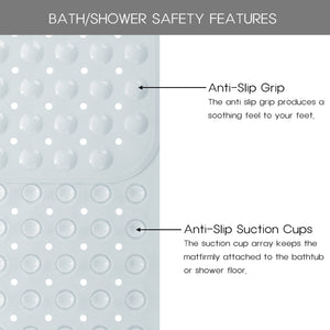 "Norcho Anti Slip Bathtub Mat Extra Long for with Suction Grip 40"" x 16"" L x W White"