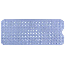 "Norcho Anti Slip Bathtub Mat Extra Long for Bathroom with Suction Grip 40"" x 16"" L x W Light Blue"