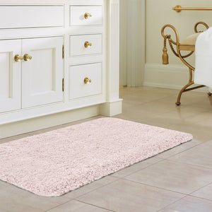 "Norcho Bathroom Mat Soft Rug Door Mat Water Absorbent Antibacterial with Anti Slip Rubber Back Luxury, 31""x19"", Pink"