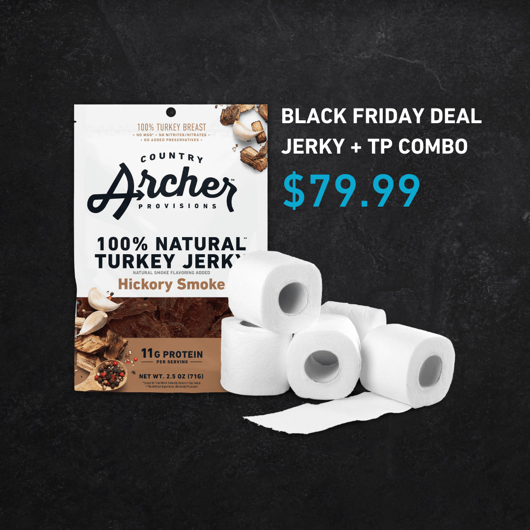 Hottest Bundle of 2020: Country Archer Turkey Jerky & Toilet Paper