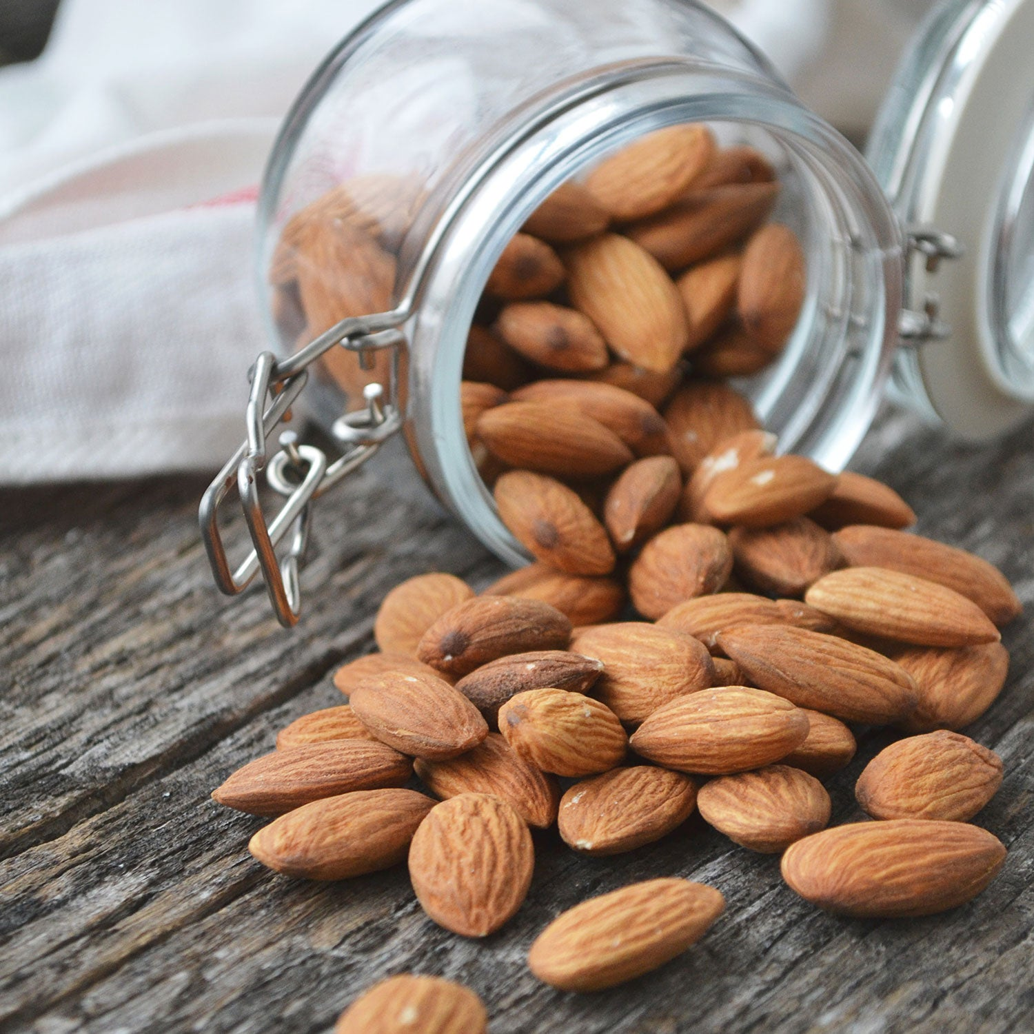 jar of almonds healthy snack