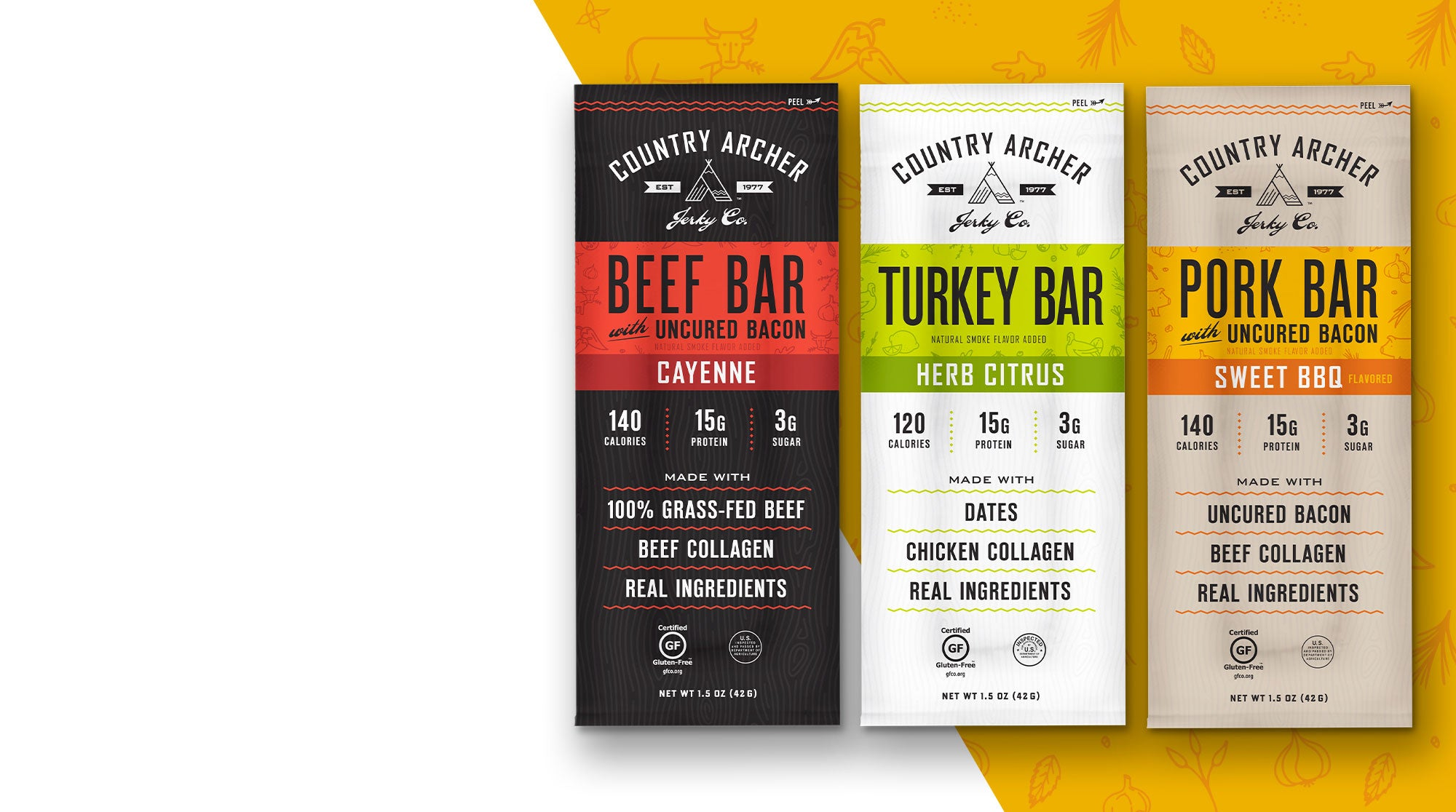 Pork Bar, Beef Bar, and Turkey Bar