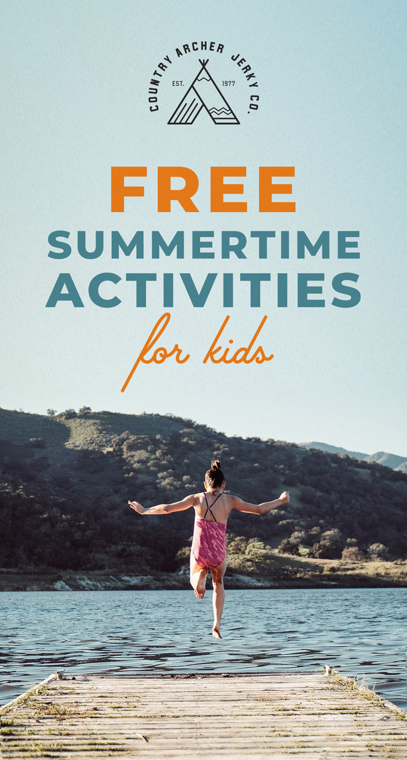 infographic for free summertime activities for kids