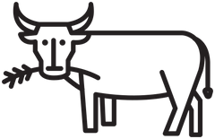 Cartoon Cow Icon
