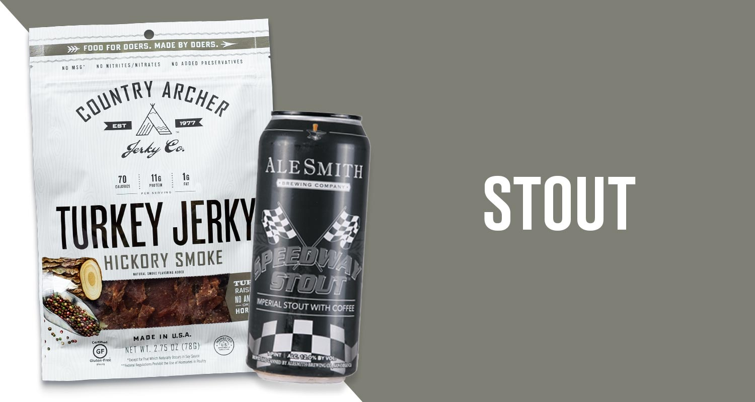 Hickory Smoke Turkey Jerky & AleSmith Stout