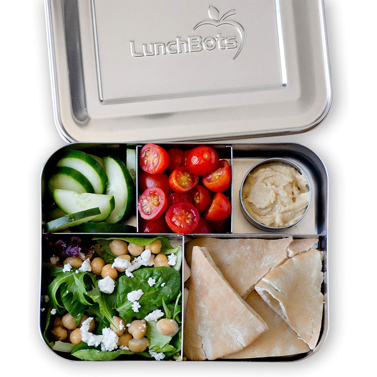 LunchBots bento lunch box with healthy lunch