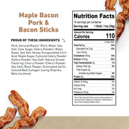 Pork and Bacon Meat Stick Nutritional Information- product carousel image