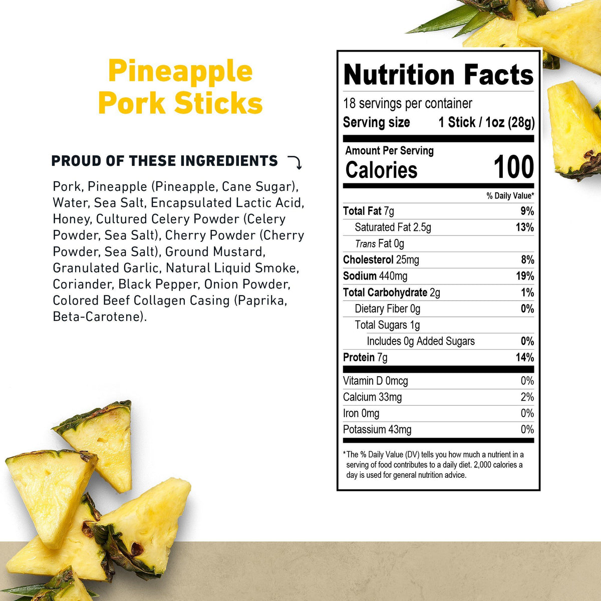 Pineapple Pork Stick Nutritional Information