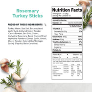 Rosemary Turkey Stick Nutritional Information