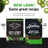 Jalapeno Beef Jerky old packaging to new -product carousel image