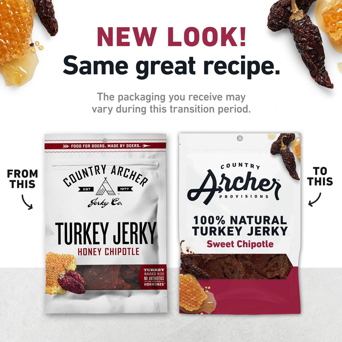 Sweet Chipotle old packaging to new- product carousel image
