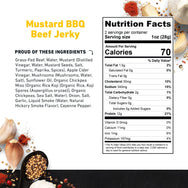 Zero Sugar Beef Jerky Mustard BBQ Nutritional Information- product carousel image