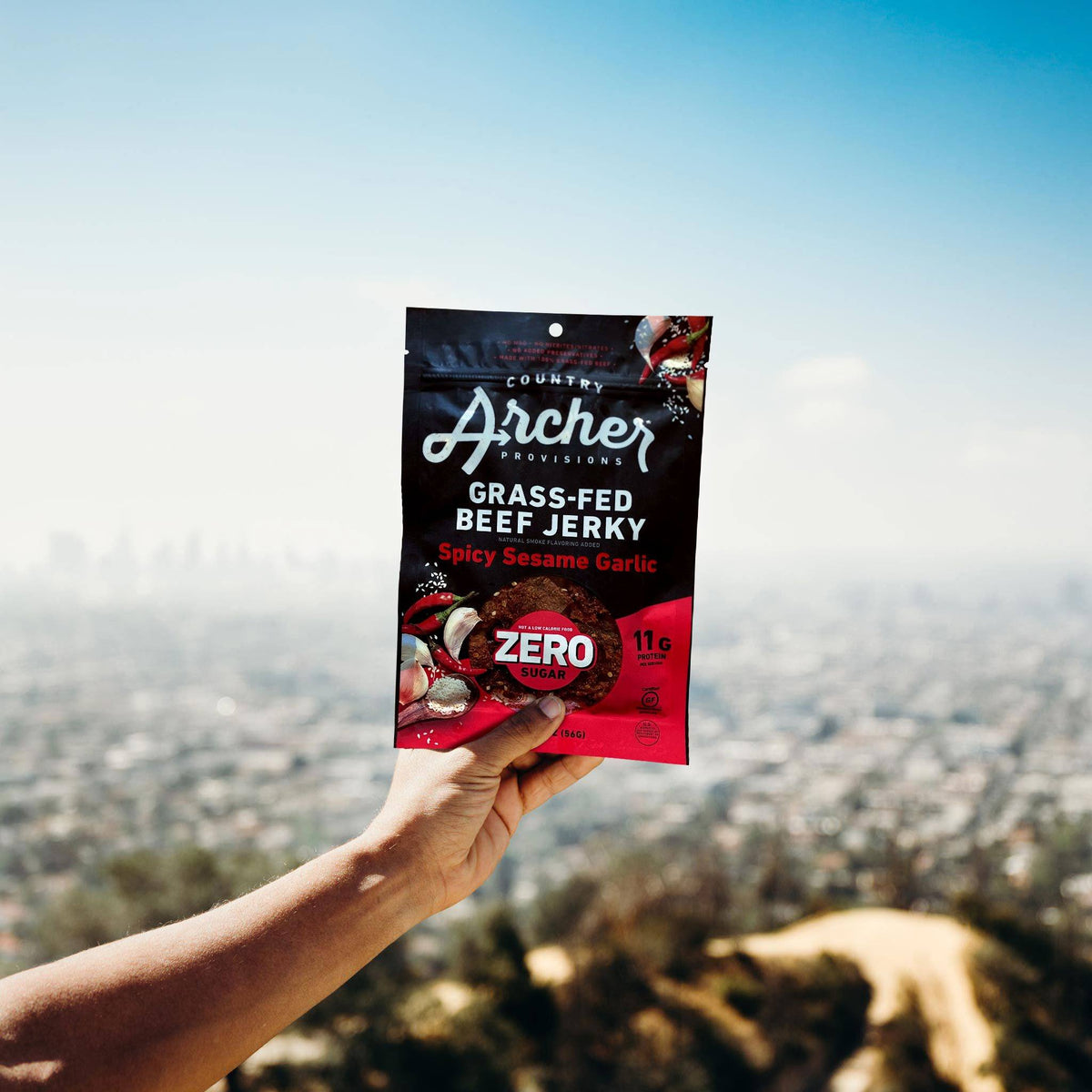 Zero Sugar Spicy Sesame Garlic Beef Jerky