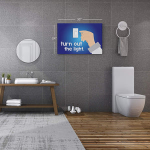 Bathroom Decor Wall Art CANHAS Print H16