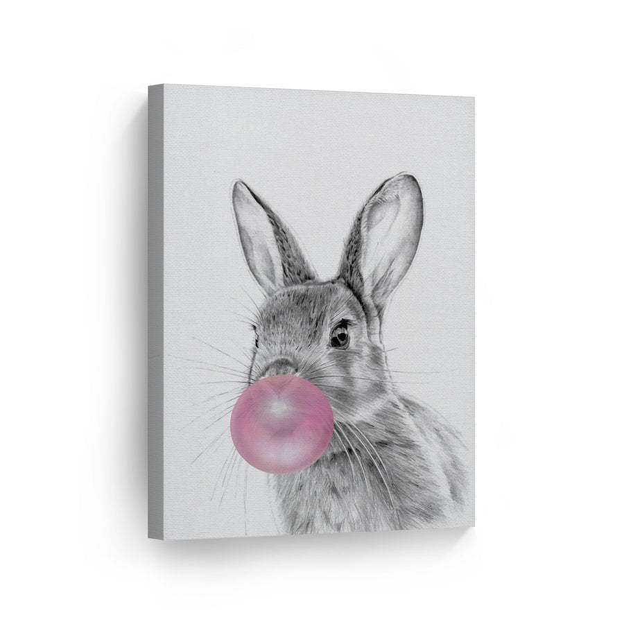 Bunny Bubble Gum Canvas Print Metal Print