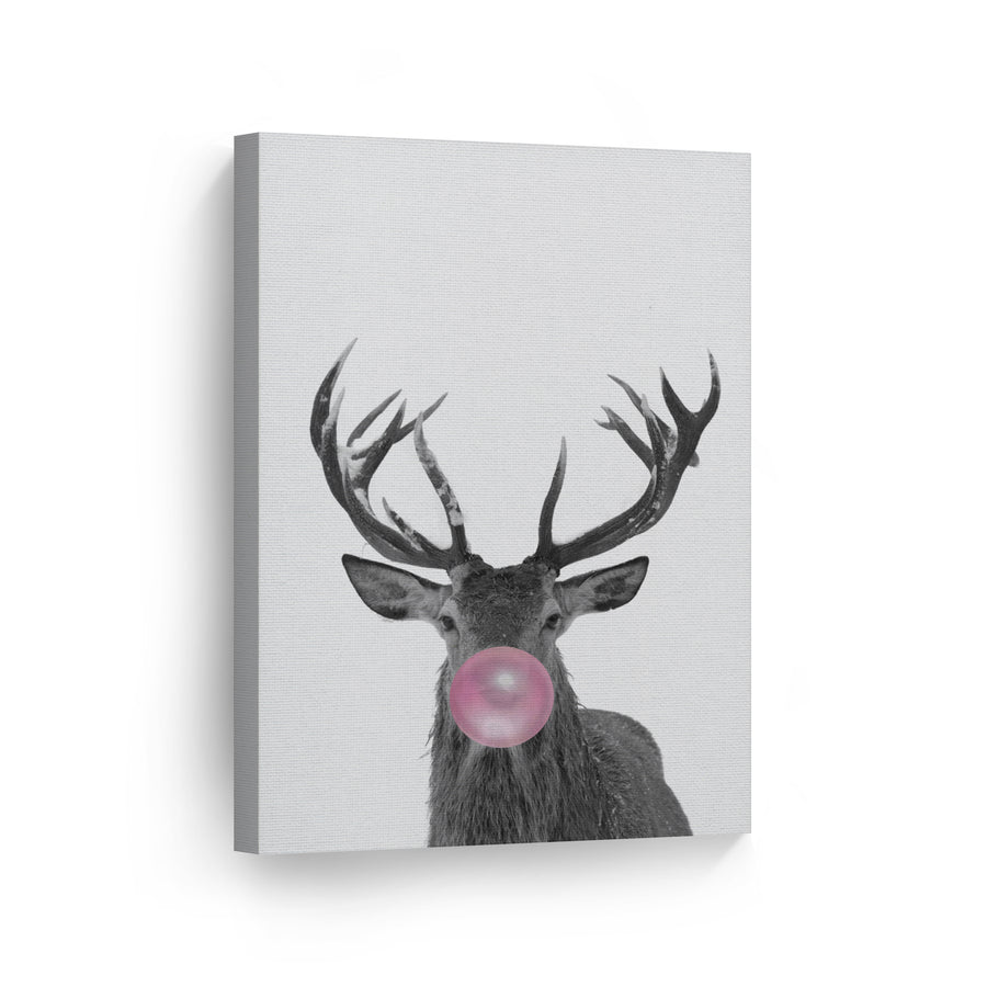 Reindeer Bubble Gum Canvas Print Metal Print