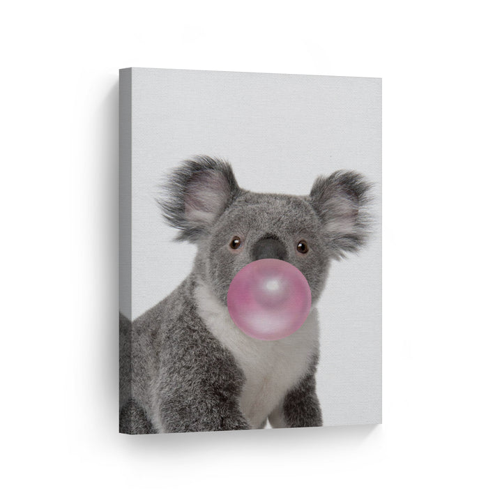 Koala Bubble Gum Canvas Print Metal Print
