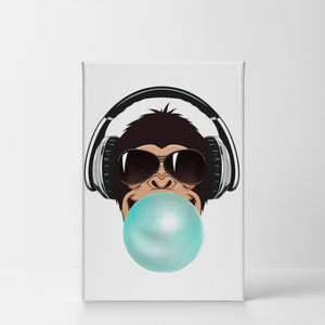 Monkey Bubble Gum Canvas Print Metal Print