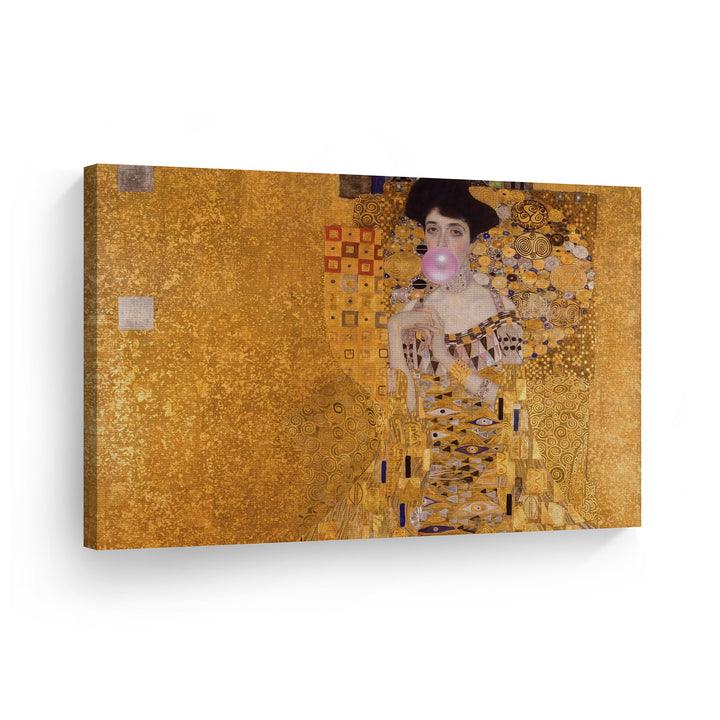 Gustav Klimt Bubble Gum Pop Art Canvas Prints Metal Prints
