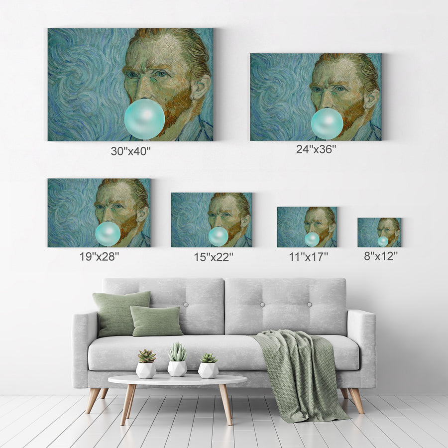 Vincent Van Gogh Self Portrait Bubble Gum Pop Art Canvas Prints Metal Prints