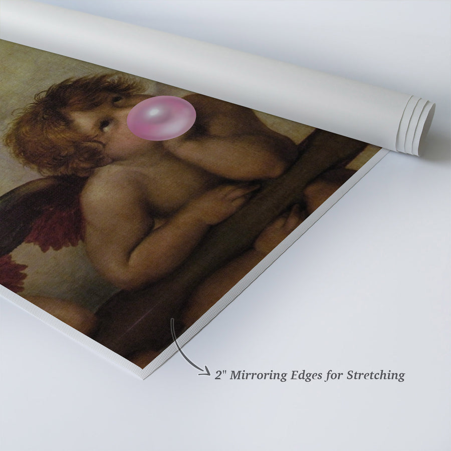 Raphael The Sistine Madonna Pink Bubble Gum Pop Canvas Prints | Metal Prints