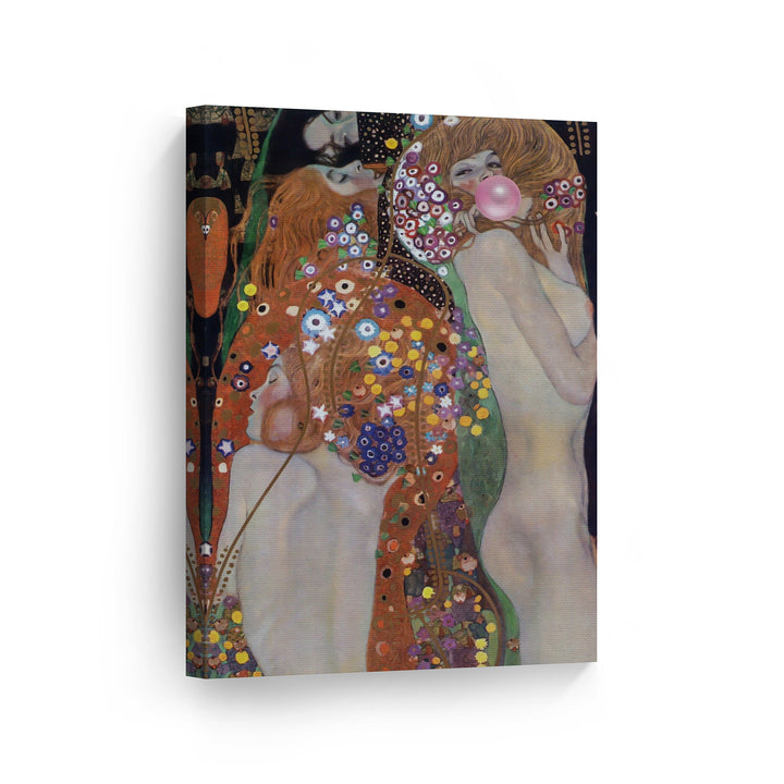 Gustav Klimt Water Snakes II Bubble Gum Canvas Print Metal Print