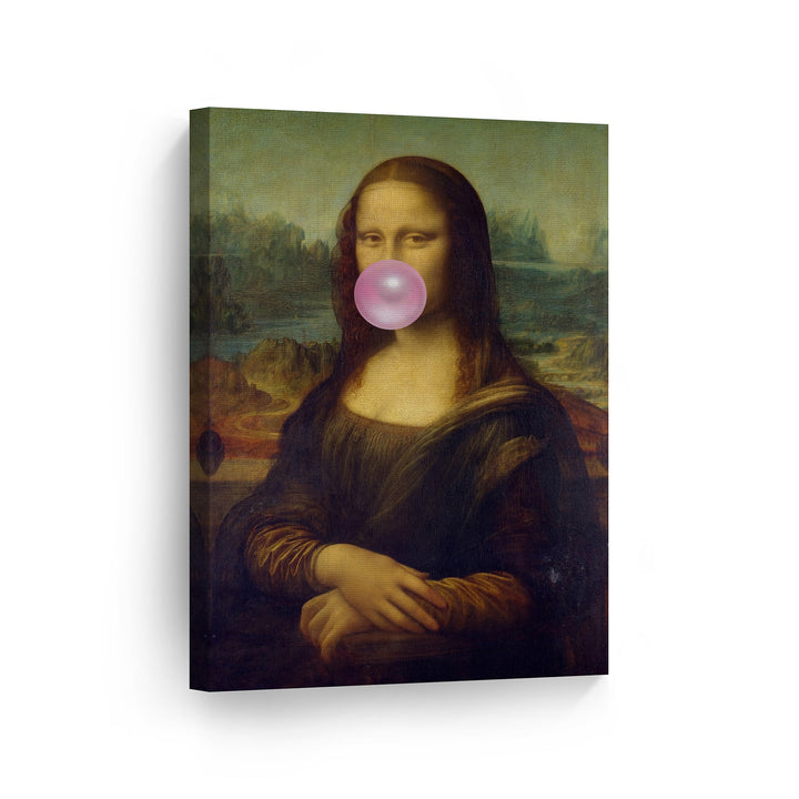 Leonardo Da Vinci Mona Lisa Bubble Gum Canvas Print Metal Print