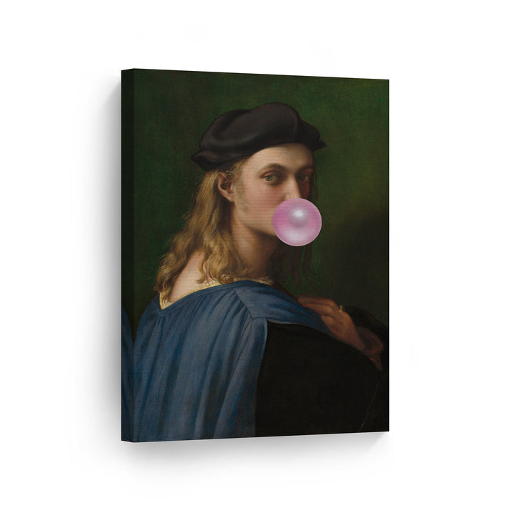 Raphael Portrait of Bindo Altoviti Bubble Gum Canvas Print Metal Print