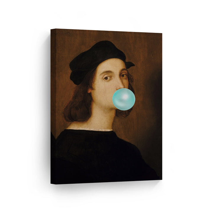 Raphael Self Portrait Bubble Gum Canvas Print Metal Print