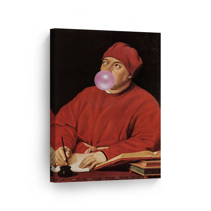 Raphael Portrait of Tommaso Inghirami Bubble Gum Canvas Print Metal Print