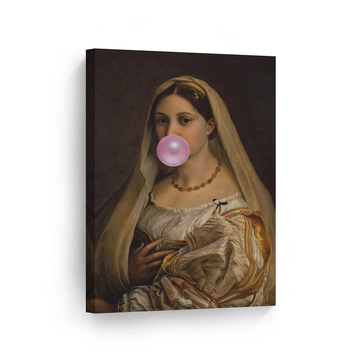 Raphael Woman with a Veil Bubble Gum Canvas Print Metal Print