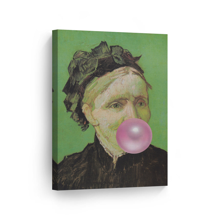 Vincent Van Gogh Portrait of Artist's Mother Bubble Gum Canvas Print Metal Print