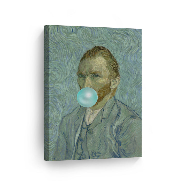 Vincent Van Gogh Self Portrait Bubble Gum Canvas Print Metal Print