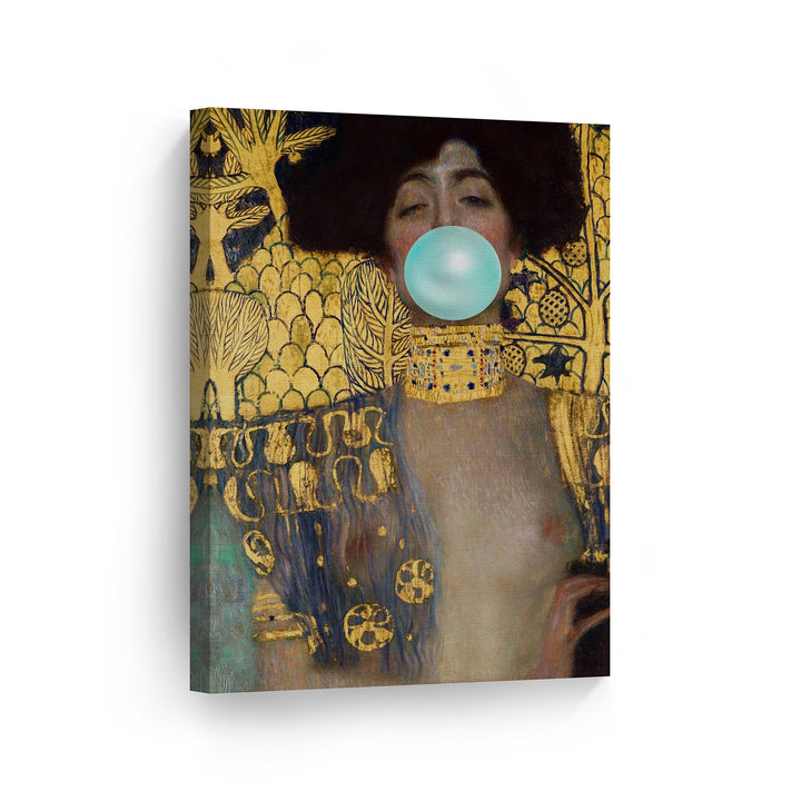 Gustav Klimt Judith and the Head of Holofernes  Bubble Gum Canvas Print Metal Print