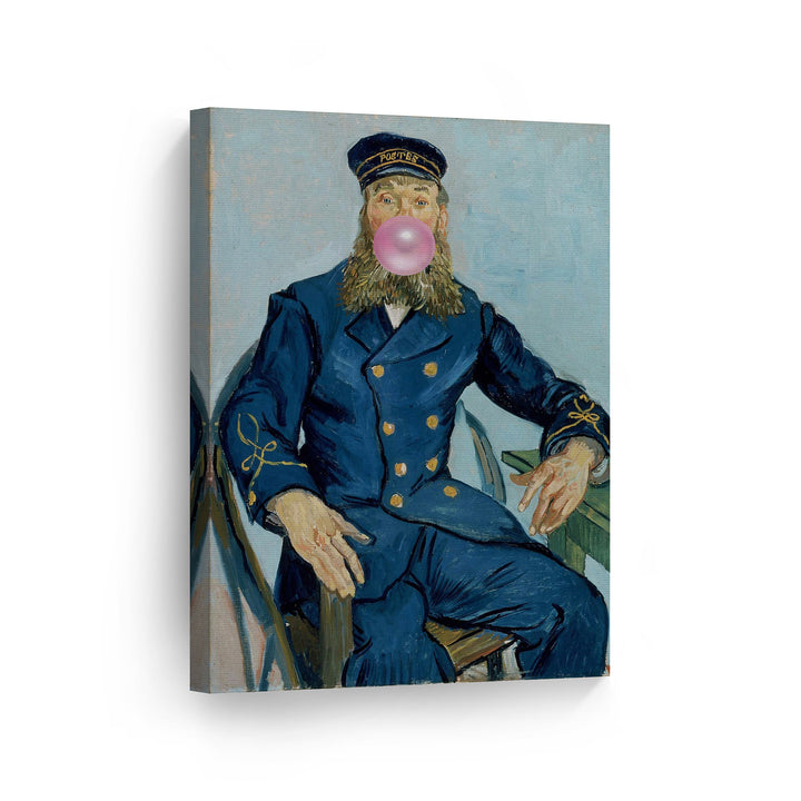 Vincent Van Gogh Portrait of The Postman Joseph Roulin Bubble Gum Canvas Print Metal Print