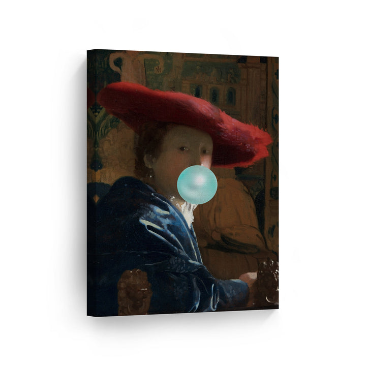 Johannes Vermeer Girl with Red Hat Bubble Gum Canvas Print Metal Print