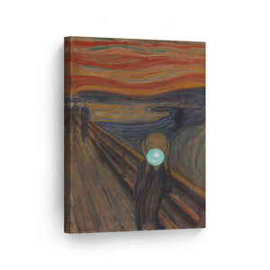 Edvard Munch The Scream Bubble Gum Canvas Print Metal Print
