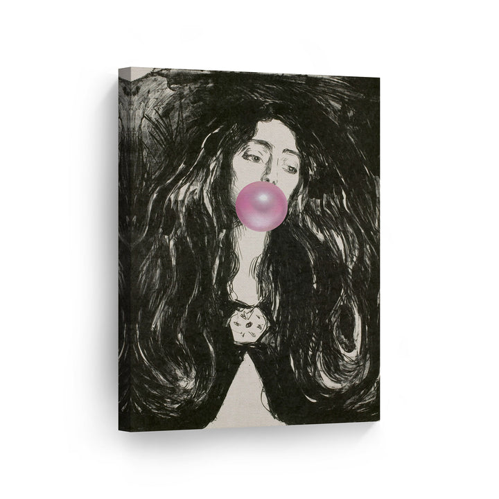 Edvard Munch The Brooch Eva Mudocci Bubble Gum Canvas Print Metal Print