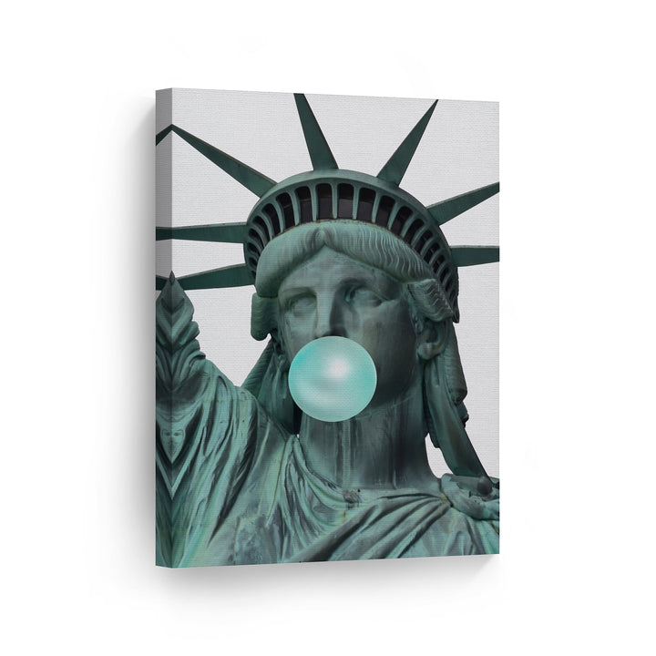 Statue of LibertyBubble Gum Canvas Print Metal Print