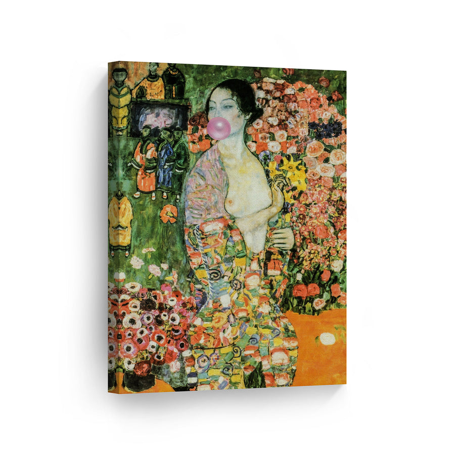 Gustav Klimt The Dancer Bubble Gum Canvas Print Metal Print