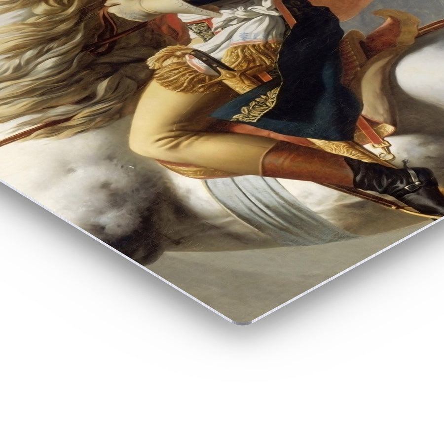 Jacques Louis David Napoleon Crossing the Alps Bubble Gum Canvas Print Metal Print