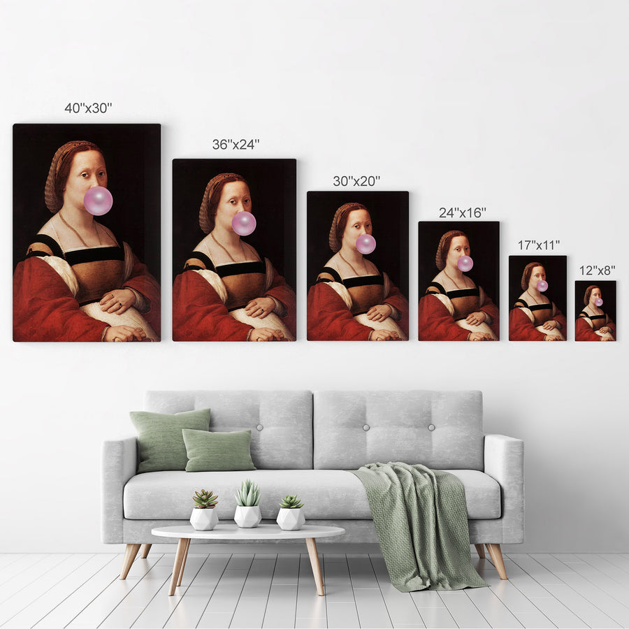 Raphael La Donna Gravida Bubble Gum Canvas Print Metal Print