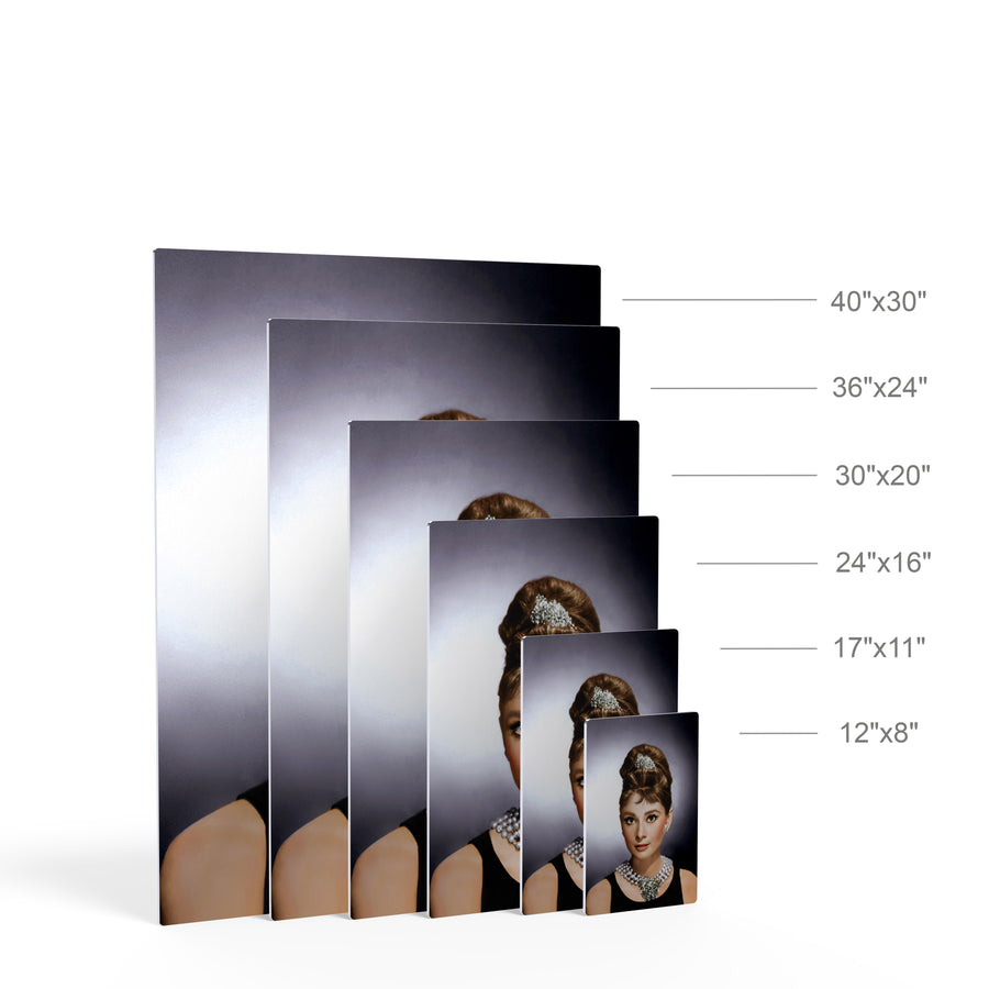 Audrey Hepburn Breakfast at Tiffany`s Iconic Wall Art Canvas Prints Metal Prints