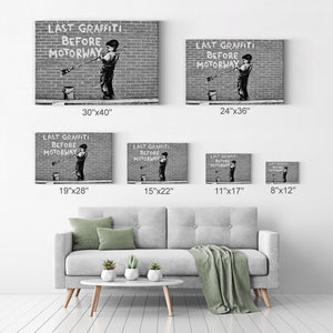 Bansky Art Artwork Street Art Painting Wall Art Canvas Prints Metal Prints