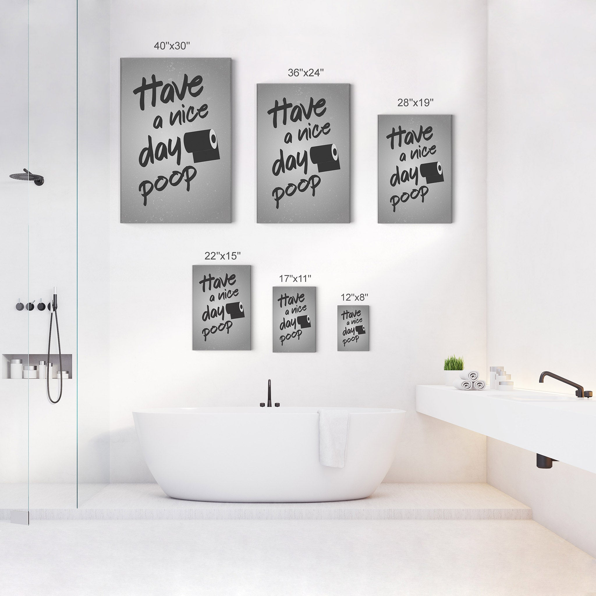 Have A Nice Day Poop Funny Bathroom Quote Wall Decor Smile Art Design