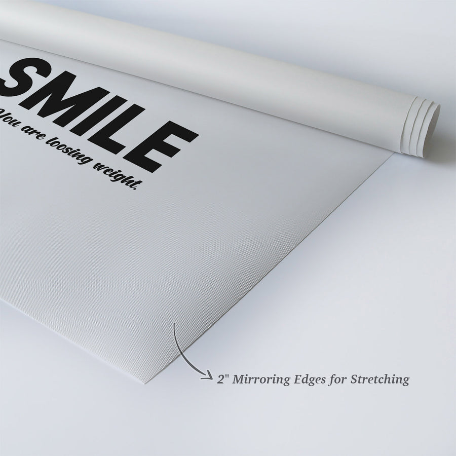 Smile You are Loosing Weight Funny Toilet Quote Bathroom Wall Decor