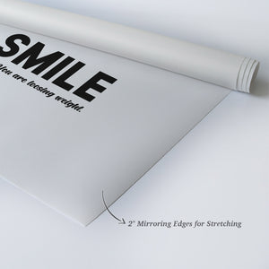 Smile you are loosing weight, Enjoy your Pool Funny Quote Bathroom Decor 3 Pieces Set Wall Art